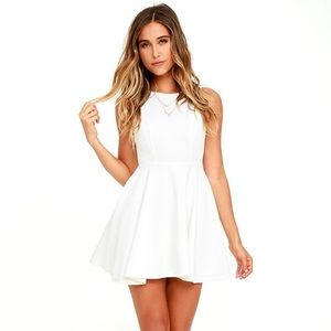 Lulu's Gal About Town Open Back Skater Dress